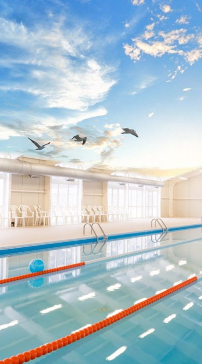 100% Full fresh air to your indoor swimming pool